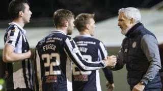 St Mirren players & manager Jim Goodwin