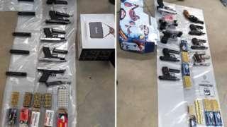 Guns seized by NCA