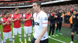 Arsenal give Manchester United a guard of honour
