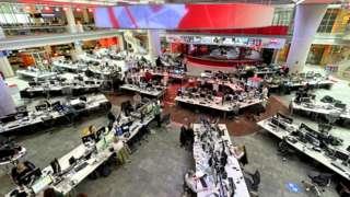 Newsroom photo taken in May 2021