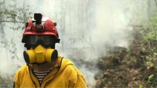 пожарный в якутии