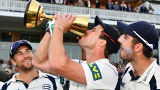 Middlesex celebrate County Championship win