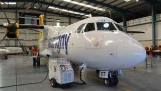 An Aurigny ATR aircraft