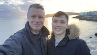 Luke Pollard and his partner Sydney