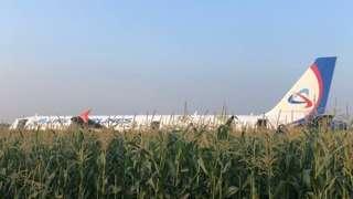 Летчики решили не маневрировать и посадили самолет на кукурузное поле