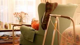 Elderly resident in care home