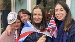 Left to right: Friends Helen Freeman, Gemma Morgan, Rachel Price-Greenow and Alice Smart