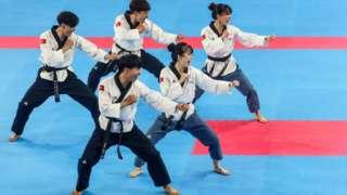 Đoàn VĐV Taekowndo của Việt Nam tại Sea Games 30.