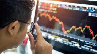 Stock image of market trader