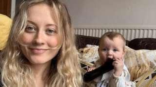 Ffion Thurston-Kellar and baby Haf