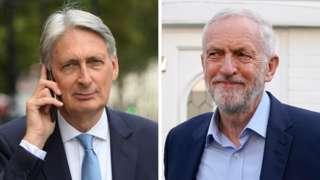 Philip Hammond and Jeremy Corbyn