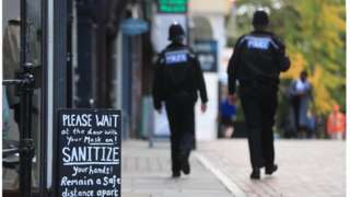 Police officers in Nottingham