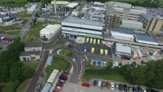 Glan Clwyd Hospital from the air
