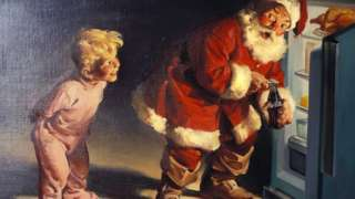 Coca-Cola exhibition featuring Santa Claus
