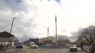 The 5G masts in Scholes