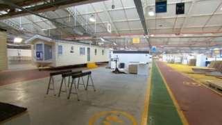 Caravan production floor