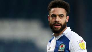 Derrick Williams in action for Blackburn