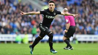 Pablo Hernandez celebrates scoring for Leeds against Reading