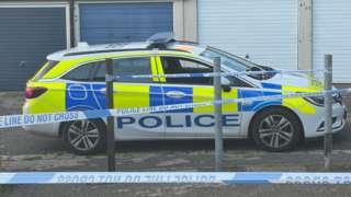 Police car at Hadrian Walk
