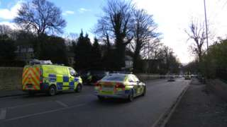Scene of collision Burngreave Road, Sheffield