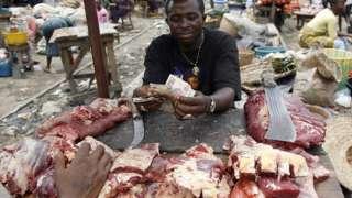Meat seller for Lagos