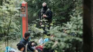 Мигранты на латвийско-белорусской границе