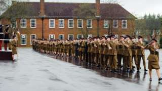Keogh Barracks on the Surrey/Hampshire border