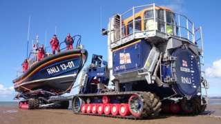 An RNLI launch and recovery system
