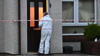 Murder scene at Magherafelt