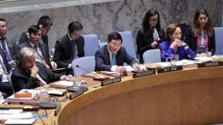 Phó Thủ tướng Phạm Bình Minh trong một cuộc họp tại trụ sở UN ở New York năm 2020