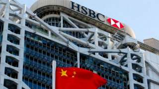 HSBC and China flag