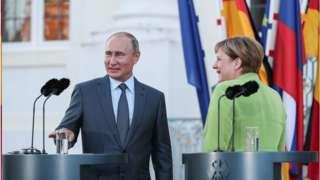 美国制裁试图阻止北溪2号天然气管道项目遭到德国和俄罗斯的反对(普京2018年访问德国)