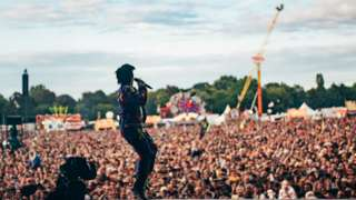 Lily Allen on the Main Stage at Isle of Wight Festival