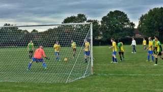 Peterborough Rangers score against Sawtry Reserves