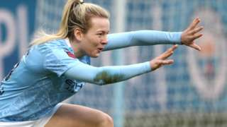 Manchester City's Lauren Hemp celebrates