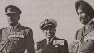 1965 च्या युद्धादरम्यान तिन्ही सेनादलांचे अध्यक्ष