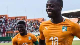 Serge Aurier (left) and Nicolas Pepe are two Ivorian regulars who could face being banned
