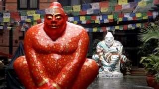 ఖట్మండులో నేపాల్ సర్కారు ఏర్పాటు చేసిన యతి మస్కట్