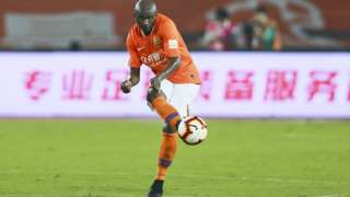 Cameroon's Stephane Mbia in action for Wuhan Zall