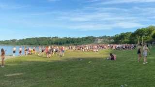 Crowds in Crawfordsburn
