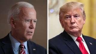 Joe Biden, kushoto , amekuwa akiongoza kura za maoni mara kadhaa