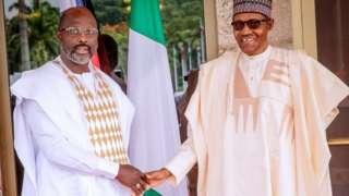 George Weah na Muhammadu Buhari