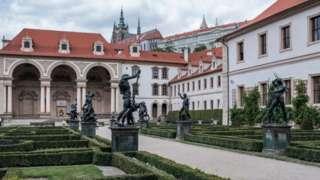 Thượng viện Czech đặt ở Wallenstein Palace, Prague