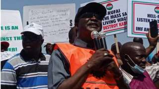 Ayuba Wabba for Kaduna workers protest