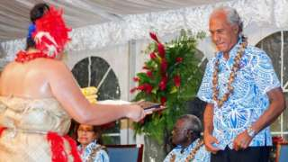 Akilisi Pohiva attends opening of 48th Pacific Islands Forum