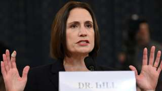 Fiona Hill, former senior director for Europe and Russia on the National Security Council, testifies before a House Intelligence Committee as part of the impeachment inquiry into US President Donald Trump