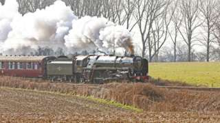 The Oliver Cromwell at Bentley, between Manningtree and Ipswich stations