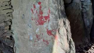Vandalism at Stoney Littleton Long barrow