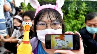 一隻日本倉鼠的角色現已變成了叛逆的象徵。