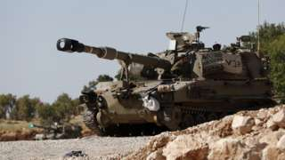Israeli armoured fighting vehicle in the occupied Golan Heights (25 August 2019)